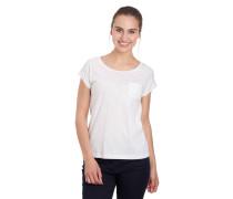 T-Shirt, florale Stickereien, Brusttasche, Zier-Knopfleiste