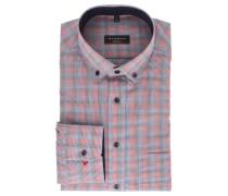 Businesshemd, Modern Fit, Brusttasche, Button-Down-Kragen