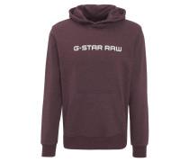 Sweatshirt, Wickelkragen, Marken-Print, Kängurutasche