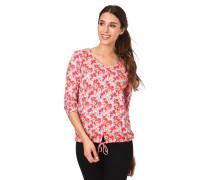 Shirt, 3/4-Arm, Blumenmuster, Tunnelzug