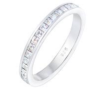 Ring Bandring Geo Shape Swarovski® Kristalle 925