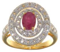 Ring mit Rubin 925 Sterling  vergoldet