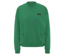 Sweatshirt, Rippbündchen, Emblem, Eingrifftaschen