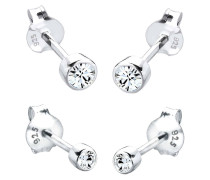 Ohrringe Basic Set Swarovski® Kristalle Filigran 925 Silber