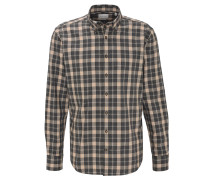 Freizeithemd, Regular Fit, Karo-Muster, Button-Down-Kragen