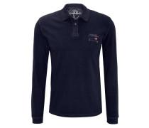 Polo-Shirt, Langarm, Logo-Stickerei