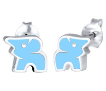 Ohrringe Kinderschmuck Elefant Tier Zoo 925 Sterling