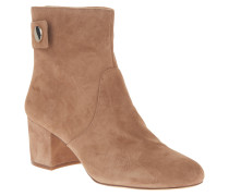 Ankle Boots, Veloursleder, Riemen, Knopfverschluss
