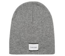 Mütze, Strick, Logo-Patch, Kaschmir-Anteil