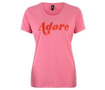 """T-Shirt """"Dore"""", gestickter Schriftzug"""