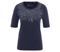 T-Shirt, Strass-Print, Halbarm, reine Bio-Baumwolle