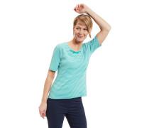 T-Shirt, reine Bio-Baumwolle, Streifen, Schnürung