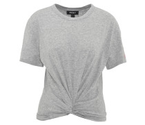 T-Shirt, uni, Knoten-Optik