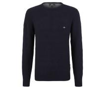 Pullover, Strick, unifarben, Label-Stickerei, Baumwolle