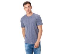 T-Shirt, meliert, Rundhalsausschnitt