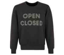 Sweatshirt, Front-Print, Ärmelapplikation, Rippbündchen