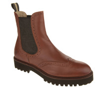 Chelsea Boots, Leder, Lyra-Lochung, Blockabsatz