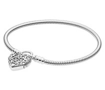 "Armband  ""Moments Smooth Silver Padlock"" 597602-18"