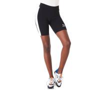Shorts, Biker-Stil, Tight Fit, Galonstreifen, Logo-Print