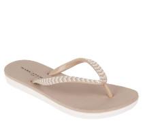 Zehentrenner, Steg mit Perlen, weiches Fußbett