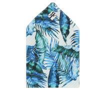 Einstecktuch, Seide, Palmen-Print