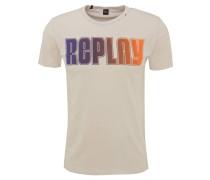 T-Shirt, reine Baumwolle, Print, Rundhals