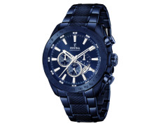 Herrenuhr Chronograph Blue Edition F16887/1