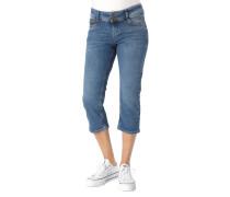 "Jeans ""Shape Capri"" Capri-Länge, Slim Fit, Herz-Stickerei"