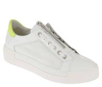 Sneaker, Lackleder, Reißverschluss, Farbkontrast