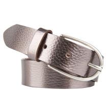 Gürtel, Leder, feine Prägung, runde Dornschließe
