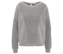 Pullover, meliert, Schnürung am Rücken