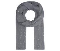 Schal, Plissee, Metallic-Print, gepunktet