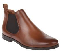 Chelsea Boots, Leder, Blockabsatz, elastischer Schaft