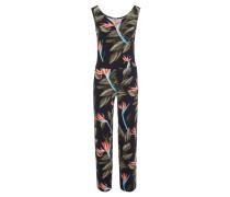 Jumpsuit, Blätter-Print, elastisch