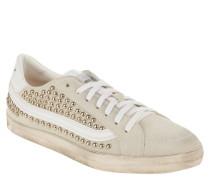 Sneaker, Veloursleder, Nieten, Used-Look, herausnehmbare Sohle