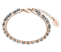 Armband mit Glassteinen 2018351 IP Rose Edelstahl