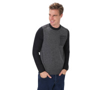 Pullover, Rundhalsausschnitt, Brusttasche
