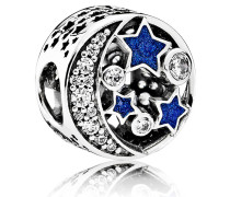 Celestial Tales Charm Mond und Sterne 791992CZ, Emaille