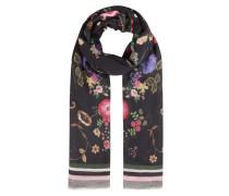 Schal, Blumen-Print, Streifen