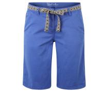 Shorts, Regular Fit, Textilgürtel, unifarben