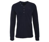 Sweatshirt, Henley-Ausschnitt, Logo-Stickerei, uni