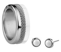 Schmuck-Set Artic Beauty Ringkombination mit Ohrstecker