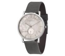 """Armbanduhr """"Frida Silber/Weißer Marmor Asphalt"""""""