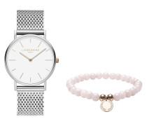 Set Damenuhr und Armband LS-0066-MQB