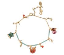 Armband, Anemonen und Seestern, vergoldet