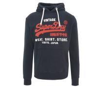 Sweatshirt, Kapuze, Rippbündchen, Print, Kängurutasche