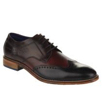Business-Schnürschuhe, Derby-Stil, strukturiertes Leder, Wechselfußbett