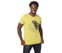 T-Shirt, reine Baumwolle, Rundhalsausschnitt, geometrischer Print