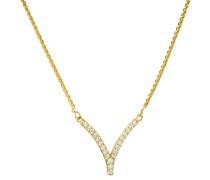 Collier mit Diamanten,  375, zus. ca. 0,15 ct.