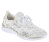 Sneaker, Knit-Optik, Mesh-Besatz